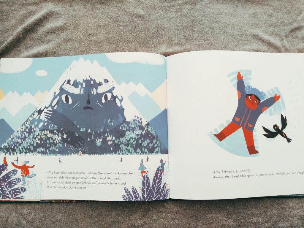 """© Illustrationen von Francesca Sanna aus """"Geh weg, Herr Berg"""", Atlantis Verlag, Zürich 2018"""